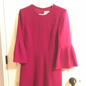 Eliza J long sleeve dress with 3/4 bell sleeves